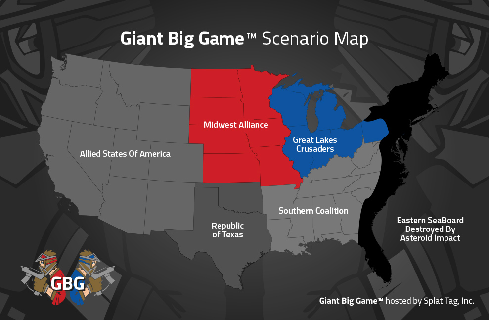 Giant Gig Game™ paintball scenario map